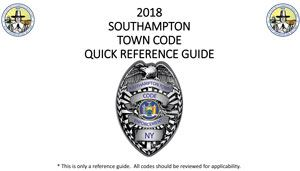 Town Code Quick Ref Guide