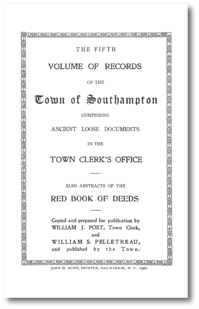Town Records Book 5