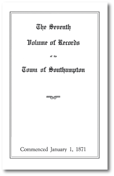 Town Records Book 7