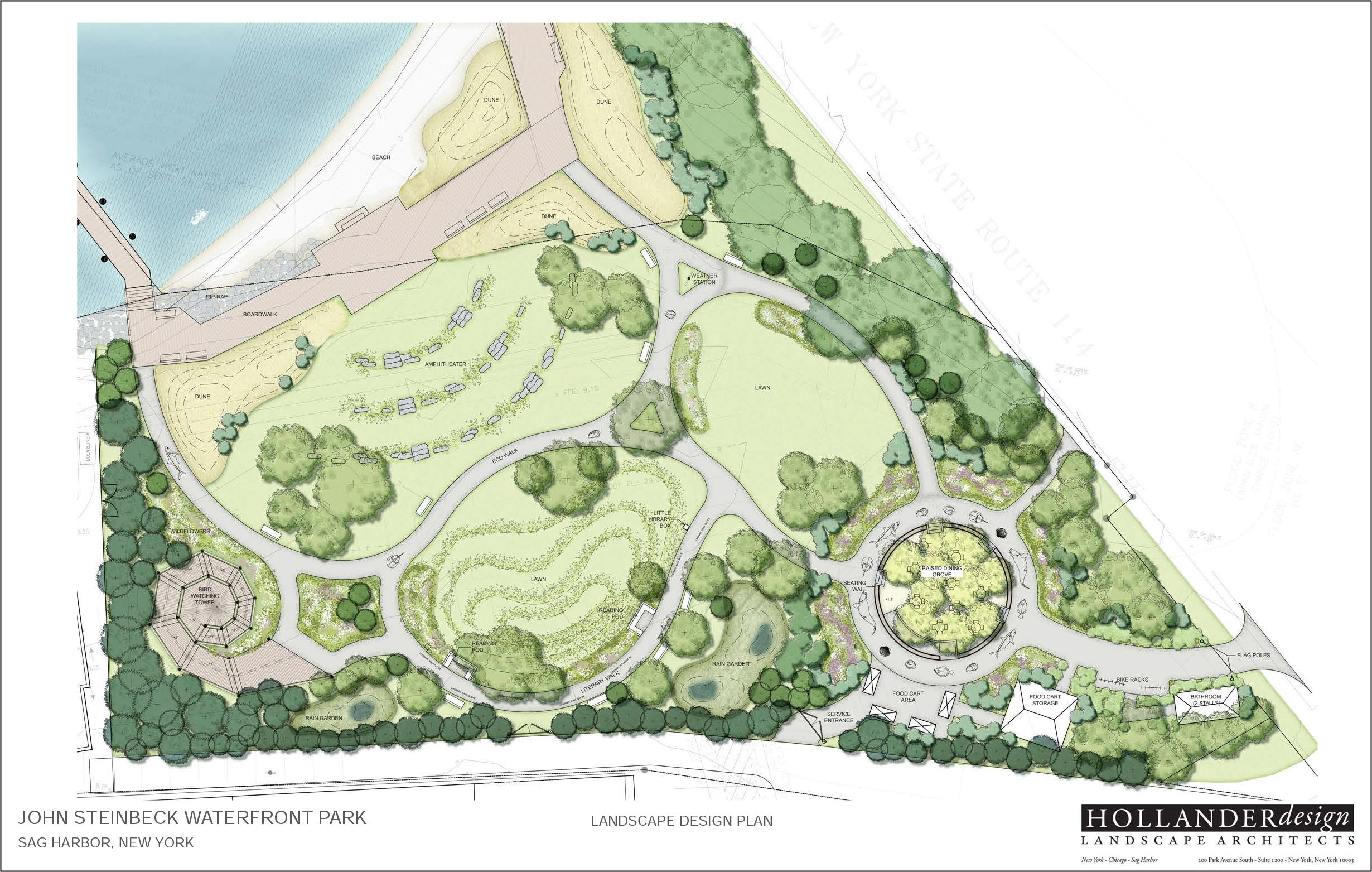 Pages from Steinbeck Park renderings